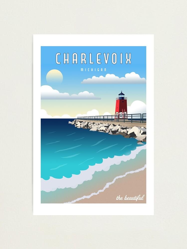 Alternate view of Charlevoix Michigan Vintage Travel  Photographic Print