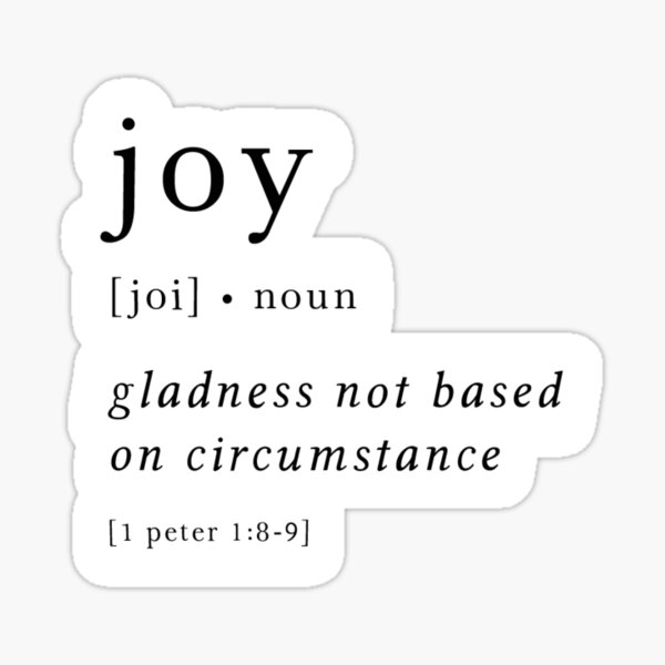Joy Definition Sticker