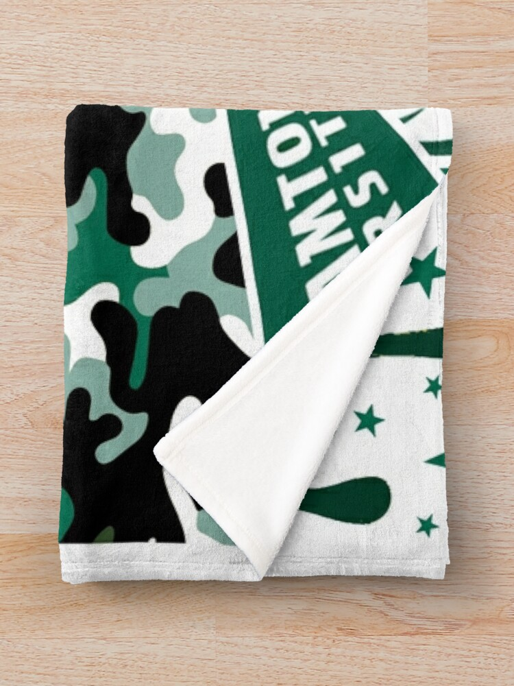 Alternate view of Binghamton University  Throw Blanket