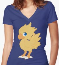 Chocobo Women's Fitted V-Neck T-Shirt