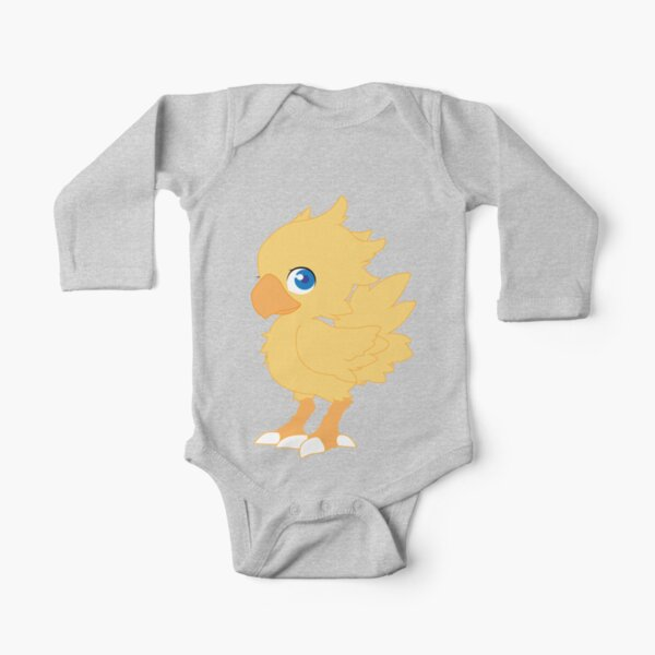 Chocobo Long Sleeve Baby One-Piece
