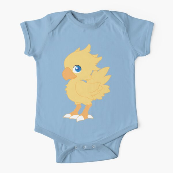Chocobo Short Sleeve Baby One-Piece