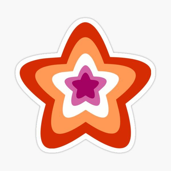 Lesbian Pride Star Sticker