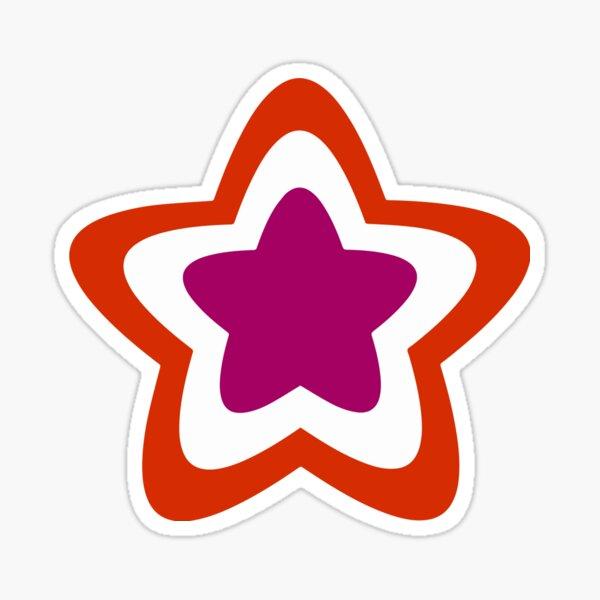 Lesbian Pride Star (variation 1) Sticker