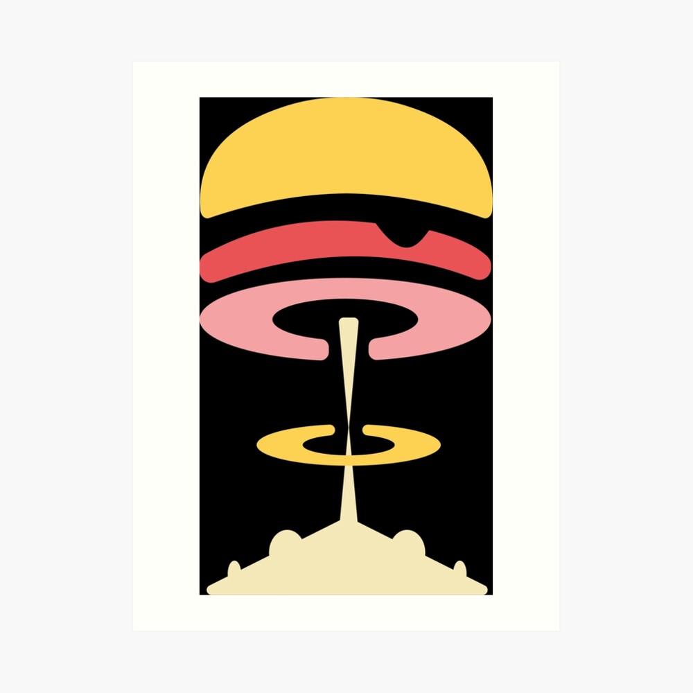 Atomic Burger Kunstdruck