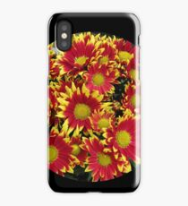 Fiery Orange and Yellow Dahlias iPhone Case