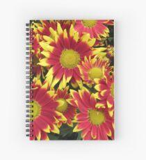 Fiery Orange and Yellow Dahlias Spiral Notebook