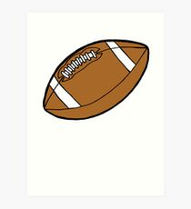 America Football Pig Skin Art Print