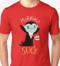 Camiseta ajustada gracioso buenos días chupa