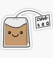 Sassy Tea Puns: Cute-Tea Sticker