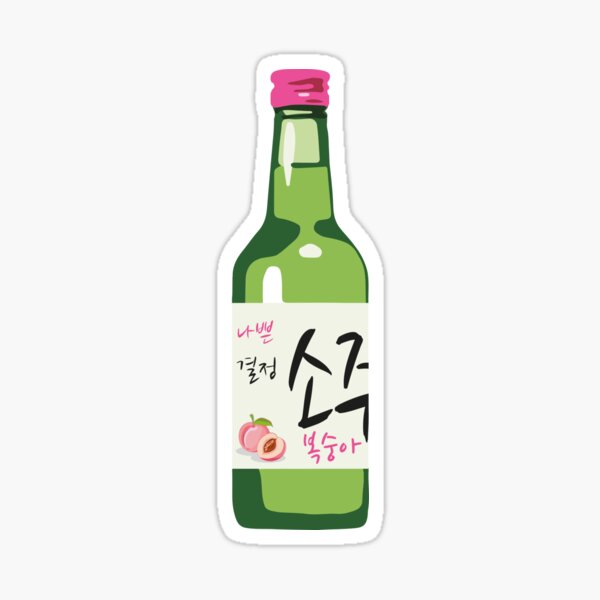 Peach Soju Sticker