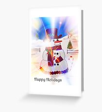 A Snowman's Christmas #1 ~ Happy Holidays Greeting Card