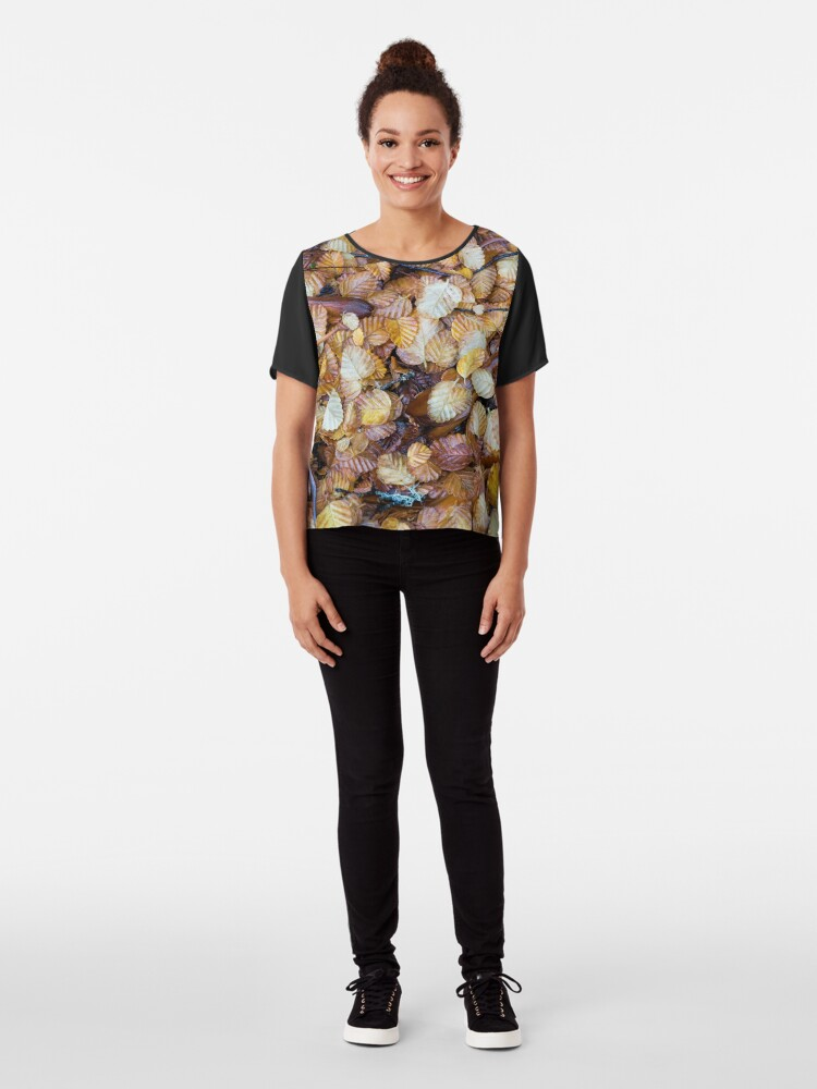 Alternate view of Forest floor Chiffon Top