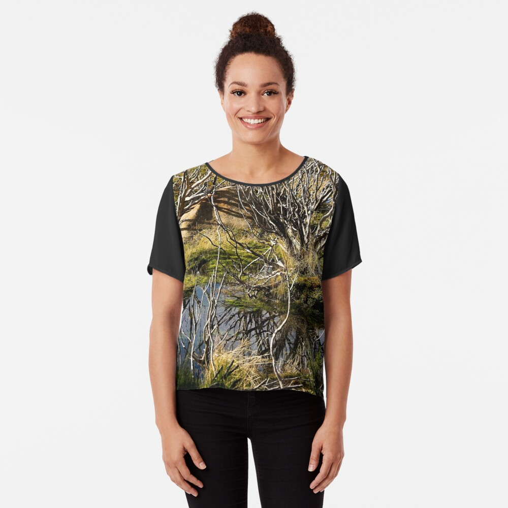 Devil's gullet wetlands Chiffon Top