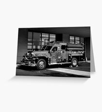 Fireman's Antique Greeting Card