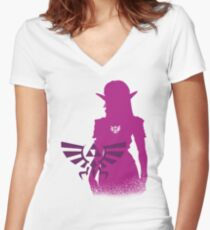 Princess Zelda Women's Fitted V-Neck T-Shirt