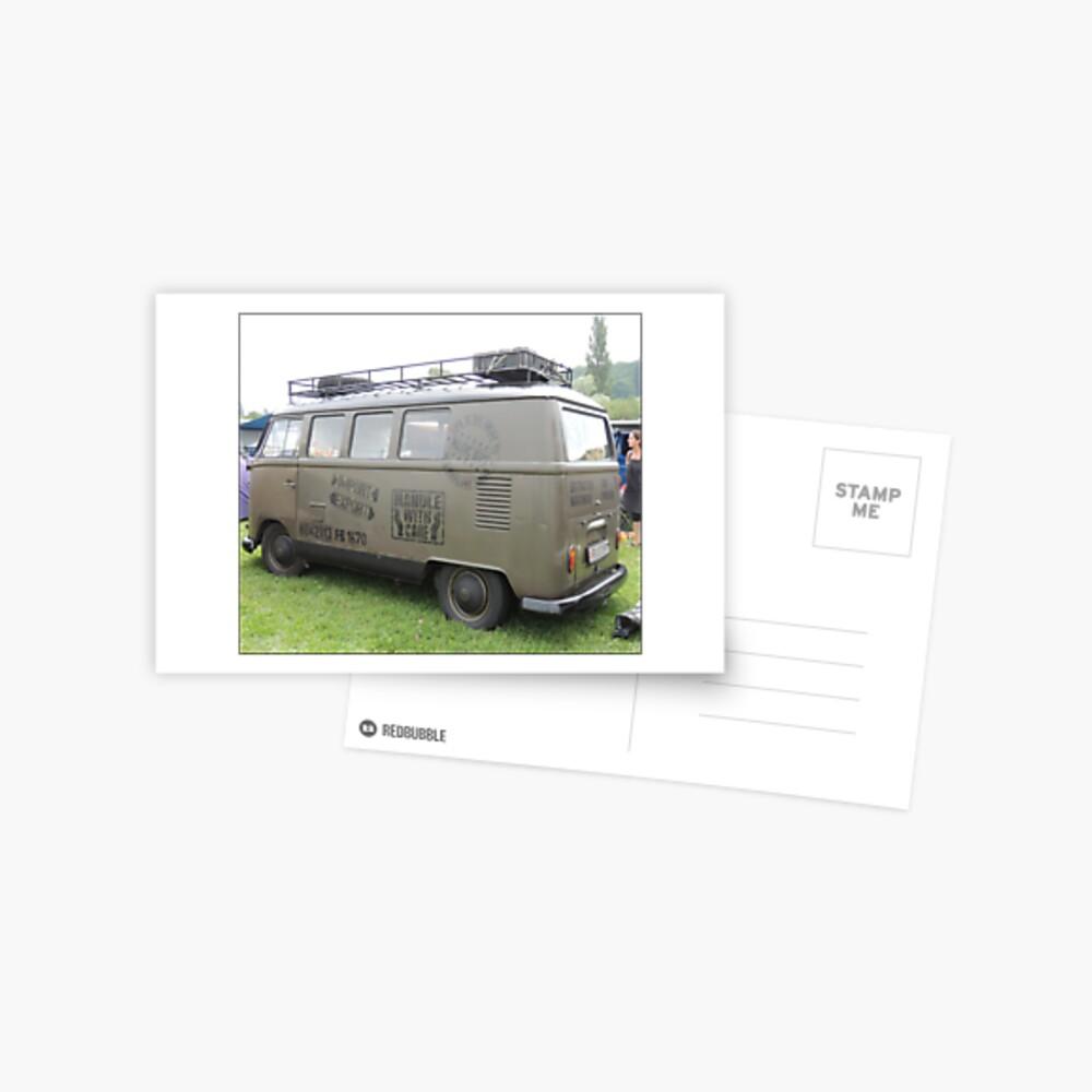 kombi camping Postkarte