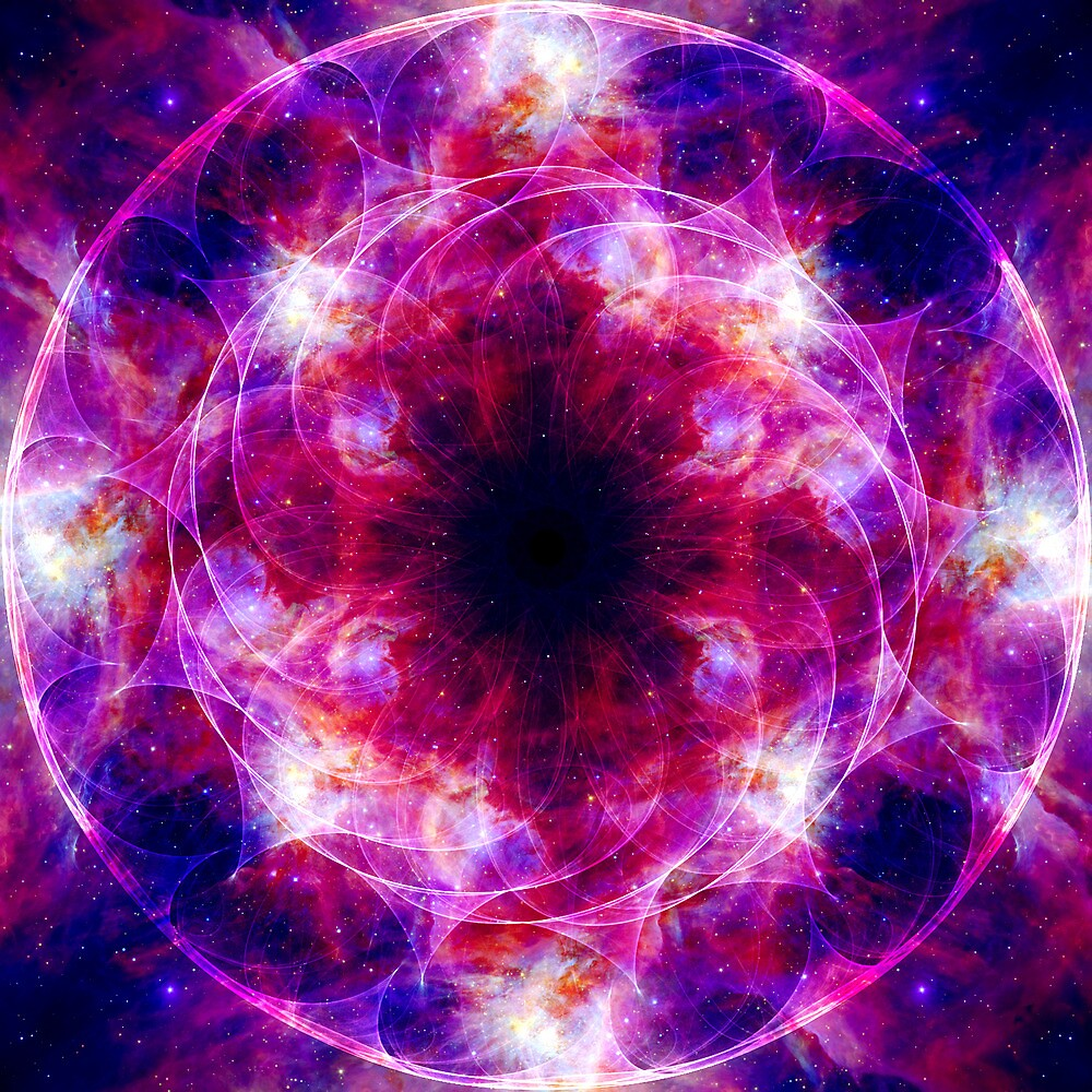 Cosmic Crown Chakra by theastrarium