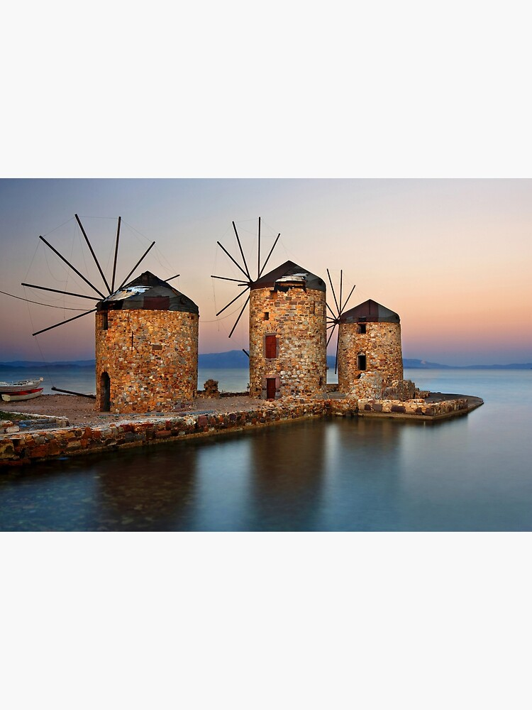 Old windmills of Chios island by Cretense72