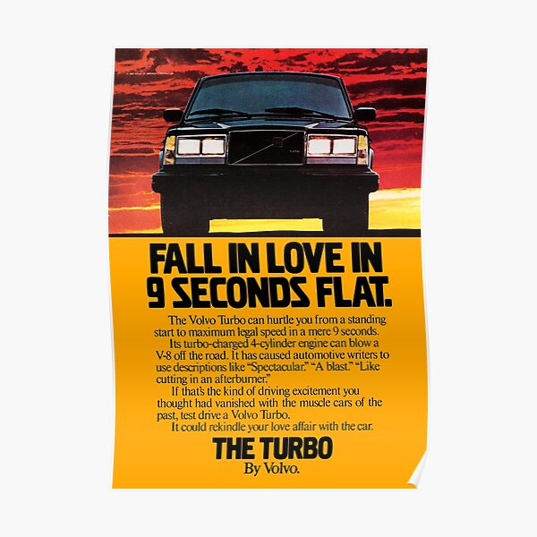 240 TURBO ADVERT Poster