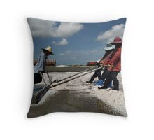 Mounding Salt Throw Pillow