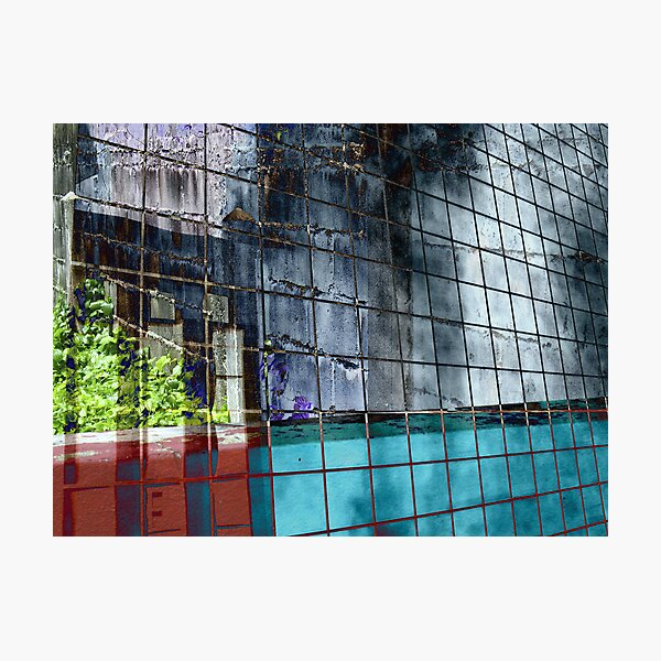 THE COLORFUL WALL IN SQUARES Photographic Print