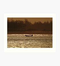 An early morning at the beach. Art Print