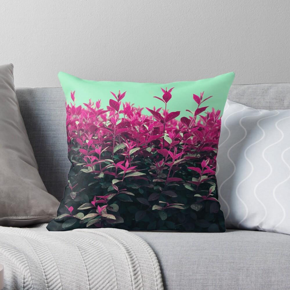 Pink Spring Throw Pillow