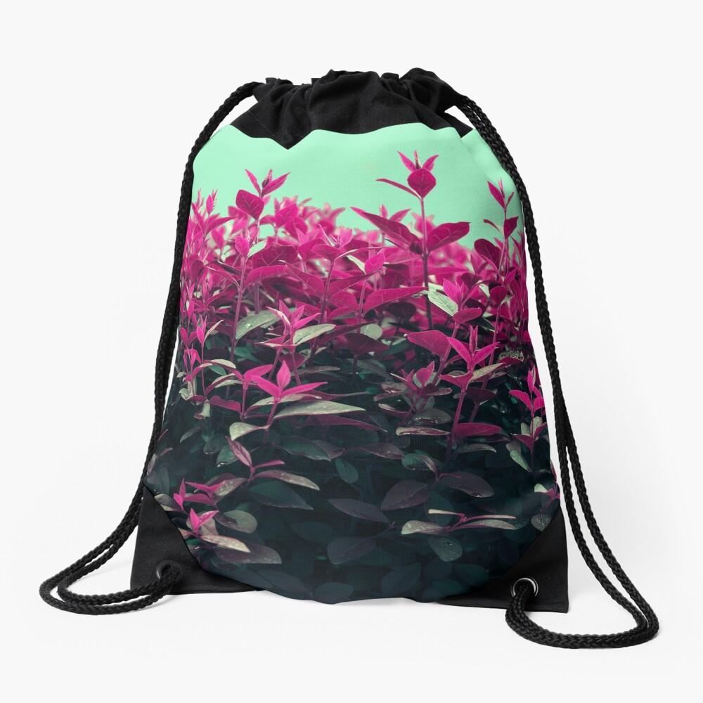 Pink Spring Drawstring Bag