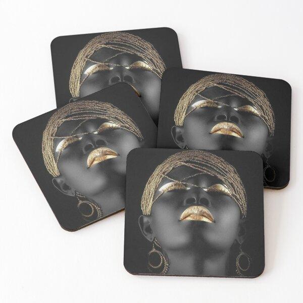 AFRICAN QUEEN Coasters (Set of 4)