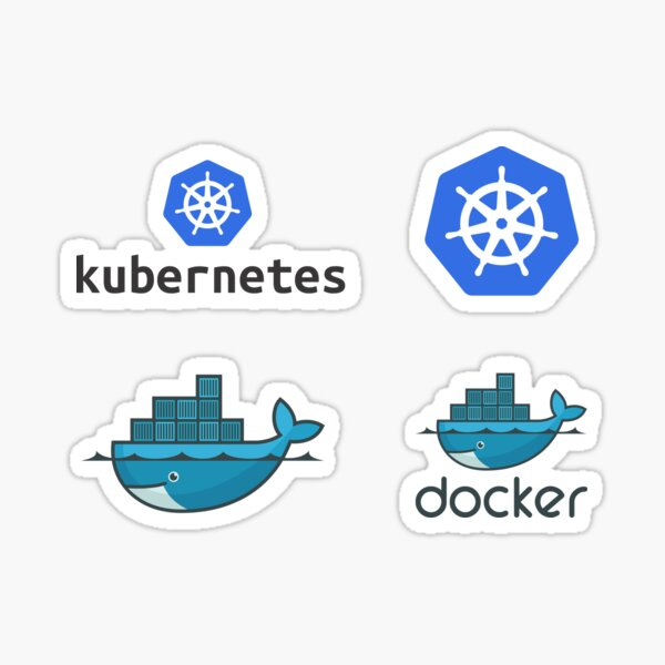 docker & kubernetes set Sticker