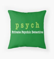 PSYCH Private Psychic Detective Agency Throw Pillow