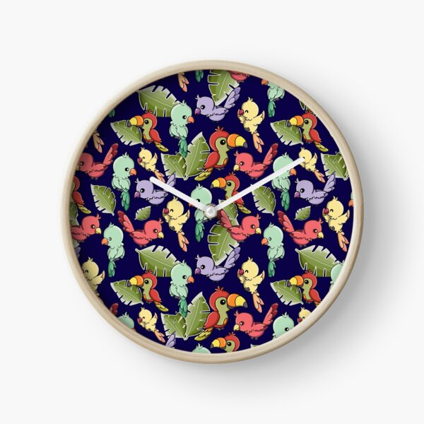 Exotic Birds and Parrot  Clock