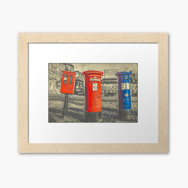 British Post Boxes Framed Art Print