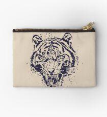Tiger Illustration Zipper Pouch