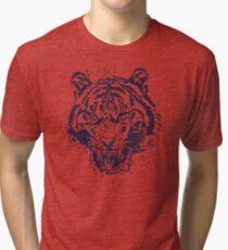 Tiger Illustration Tri-blend T-Shirt