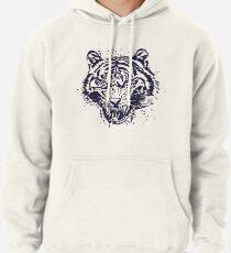 Tiger Illustration Pullover Hoodie