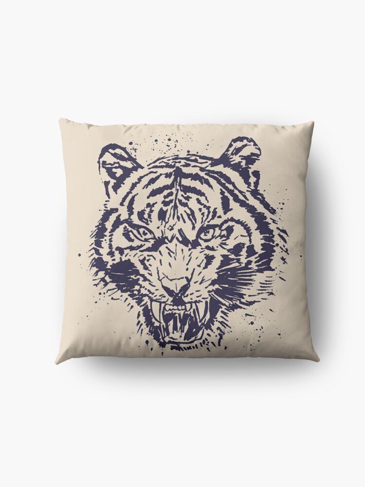 Alternate view of Tiger Illustration Floor Pillow