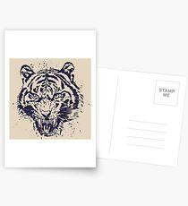 Tiger Illustration Postcards