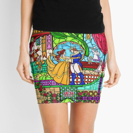 Patterns of the Stained Glass Window Mini Skirt