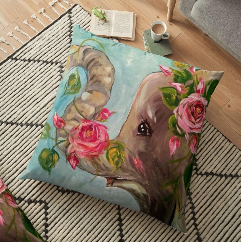 Rosey the elephant Floor Pillow
