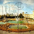 Vintage Style Postcard of Blenheim Palace by Phototrinity