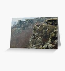 Curbar Edge Greeting Card