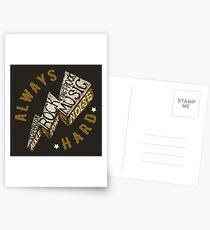 Hard Rock Thunder Hand Lettering Postcards