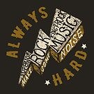 Hard Rock Thunder Hand Lettering by Chocodole