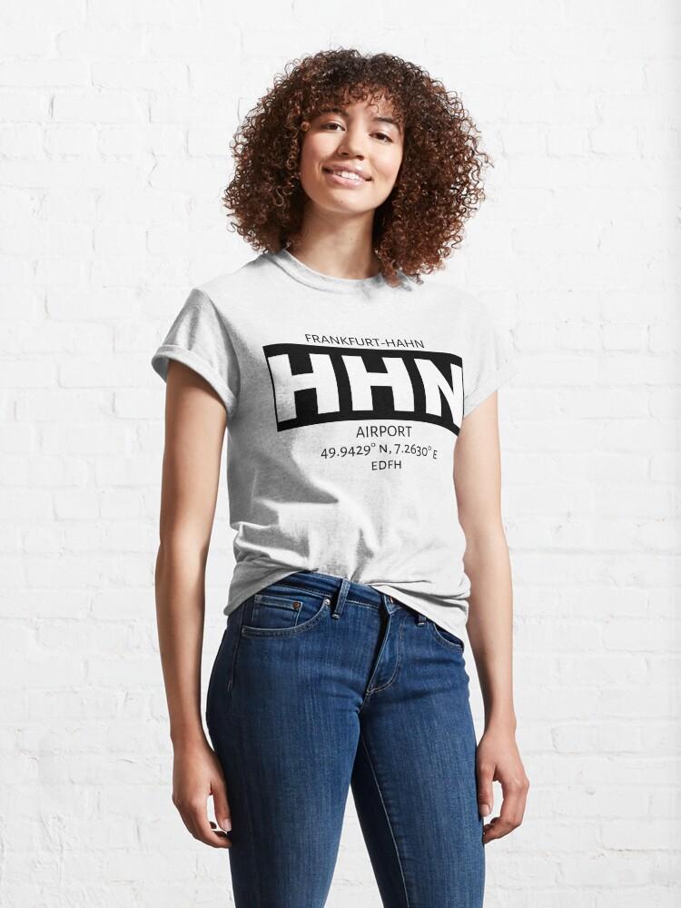 Alternate view of Frankfurt-Hahn Airport HHN Classic T-Shirt
