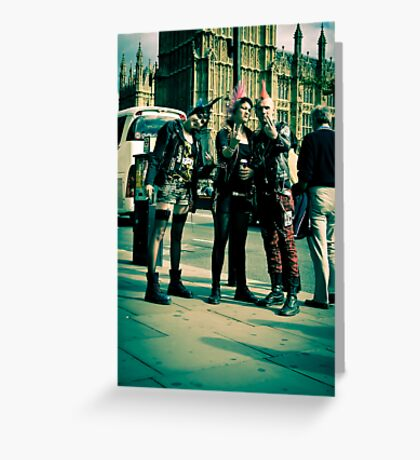 Punks on Parade:-) Greeting Card