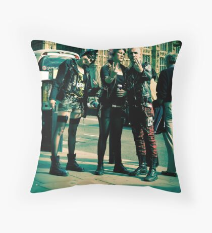 Punks on Parade:-) Throw Pillow