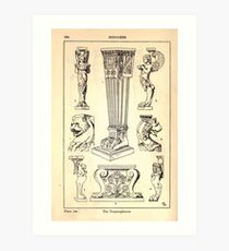 A Handbook Of Ornament With Three Hundred Plates Franz Sales Meyer 1896 0250 Supports Trapezophoron Art Print