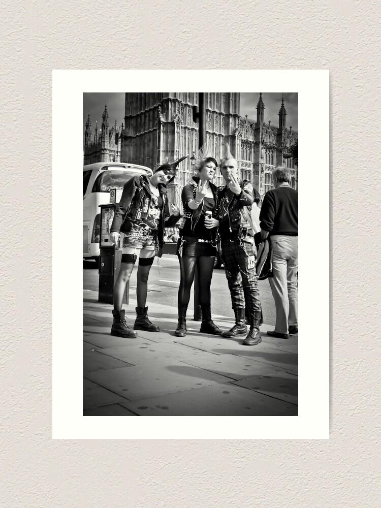 Alternate view of Punks in London: Punk Rockers Art Print